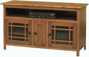 Mission Three Door TV Console