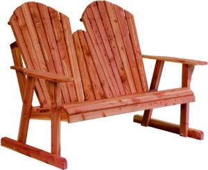 New Style Adirondack Loveseat Bench