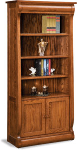 Old Classic Sleigh Two Door Bookcase