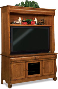 Old Classic Sleigh Two-Piece LCD Cabinet