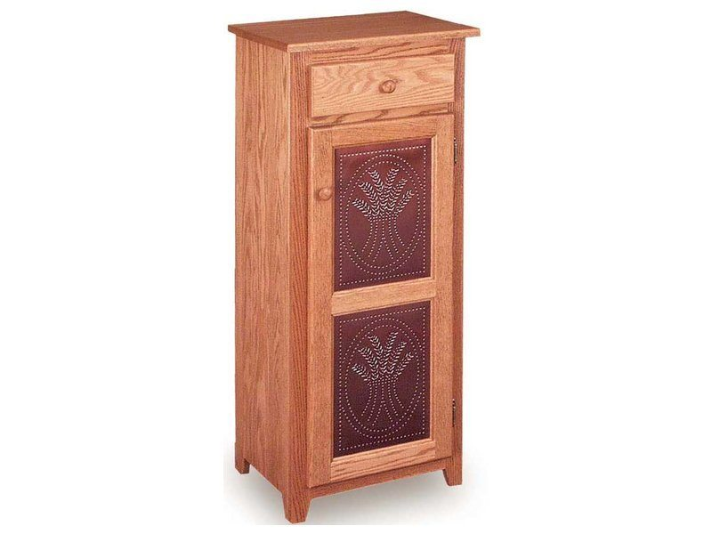 Classic Narrow Pie Safe with Drawer