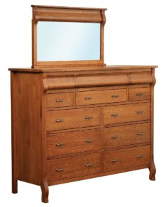 Pierre Twelve Drawer Dresser with Mirror