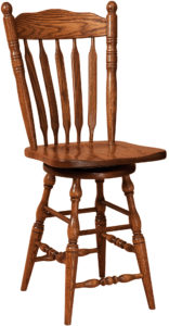 Post Paddle Swivel Bar Stool