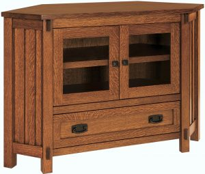 Rio Mission Small Corner TV Cabinet