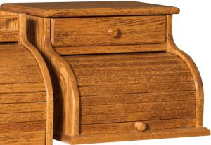 Rolltop Bread Box with Drawer