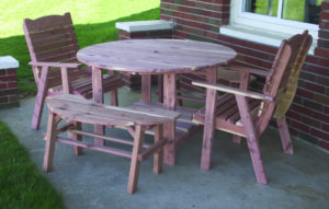 Round Cedar Picnic Table