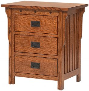 Royal Mission Three Drawer Nightstand