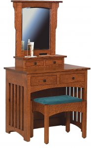 Mission Style Dressing Table with Bench