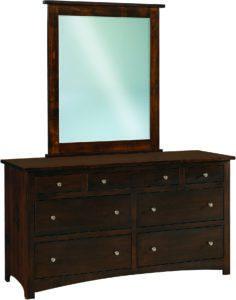 Shaker Hickory Seven Drawer Dresser