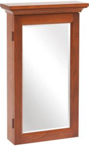 Shaker Mirrored Jewelry Armoire