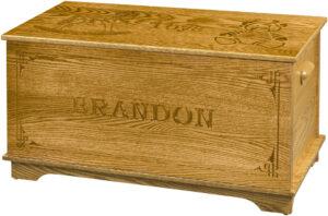 Shaker Toy Box-Name Engraving