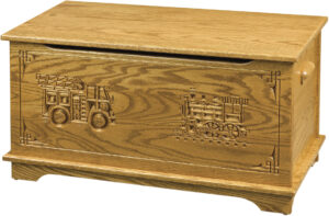 Shaker Toy Box-Truck and Train Engraving