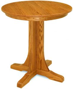 Mission Single Pedestal Pub Table