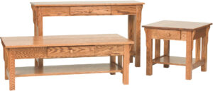 Slat Mission Occasional Table Collection