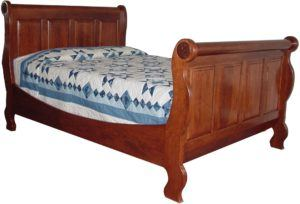 Amish Paneled Sleigh Bed