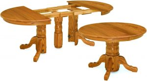 Split Pedestal Table