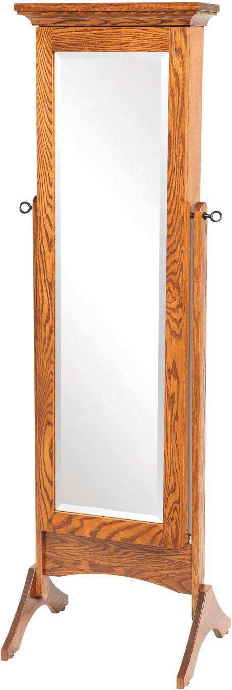 Standing Shaker Mirrored Jewelry Armoire