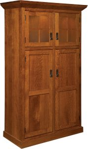 Stickley Heritage Mission Pantry with Rollout Shelves