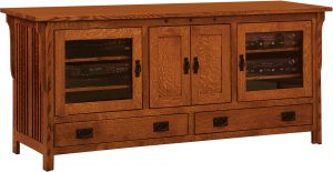 Straight Royal Mission Four Door TV Console