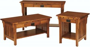 Straight Royal Mission Occasional Table Set