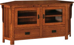 Straight Royal Mission Wide Corner TV Cabinet