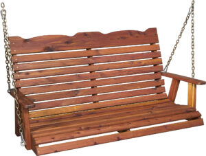 Cedar Straightback Porch Swing