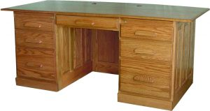 Traditional Flat Top Executive Office Desk