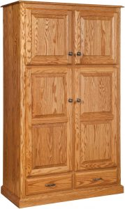 Traditional Four Door Pantry with Drawers