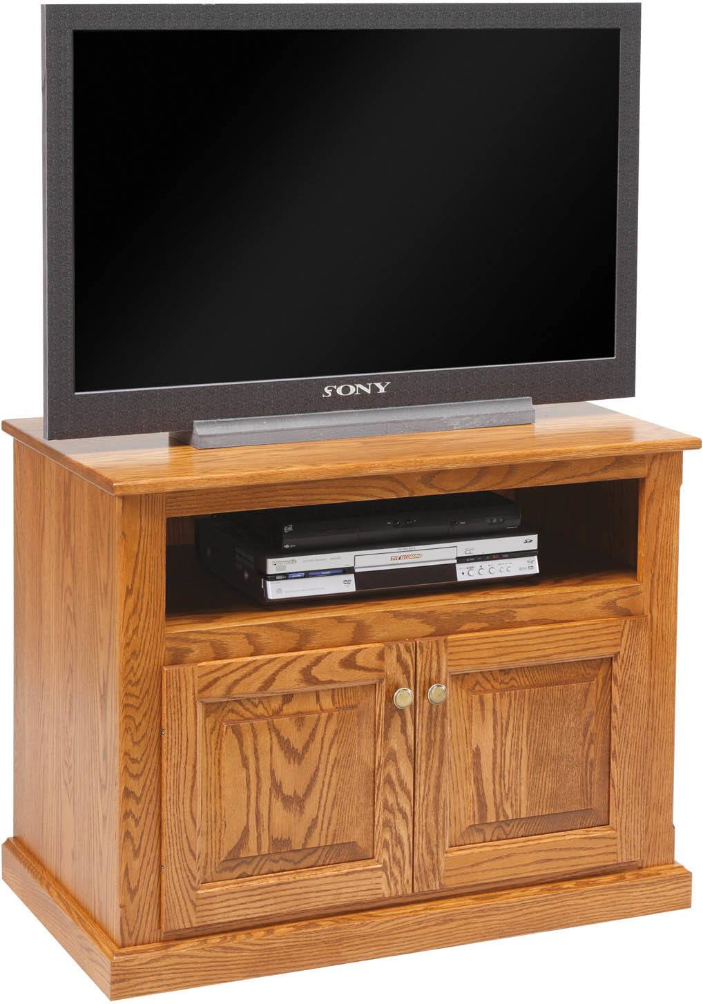 Traditional T.V. Stand with Doors