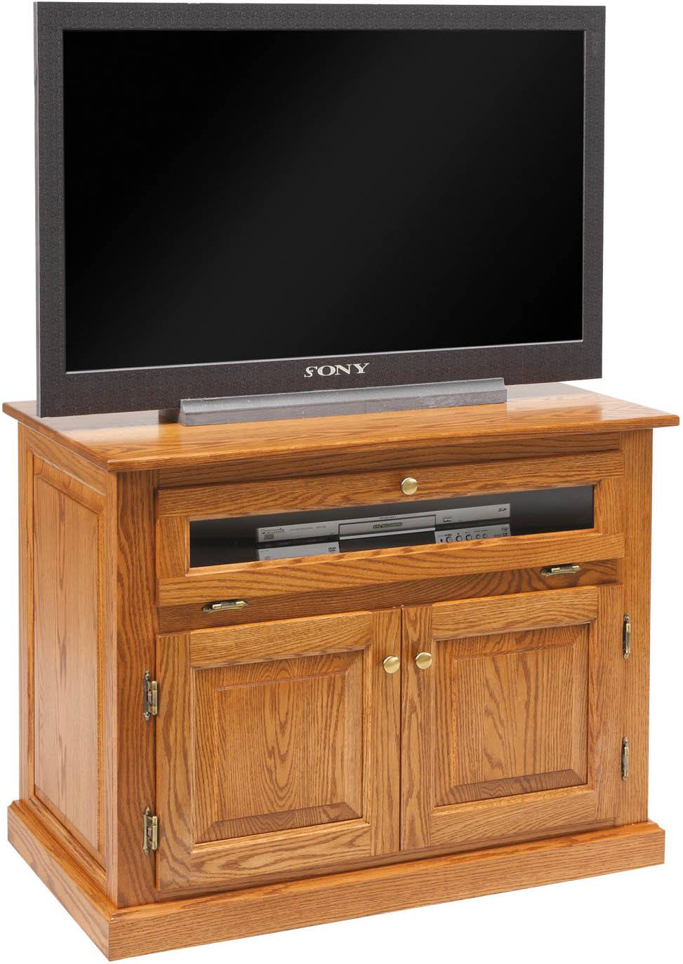 Traditional T.V. Stand-RP with Doors and Drawers
