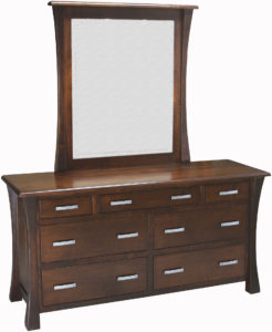 Vandalia 7 Drawer Dresser and Mirror
