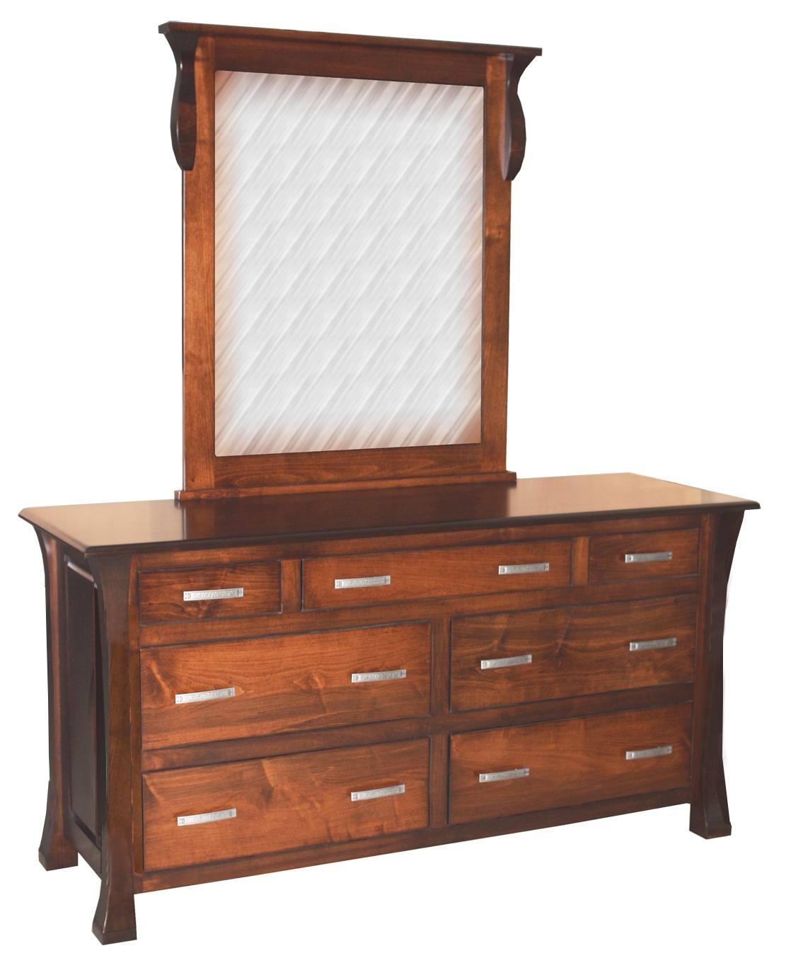 Vandalia 7 Drawer Dresser and Mirror