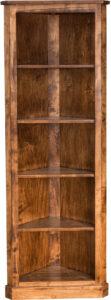 Traditional Fixed Shelf Corner Bookcase