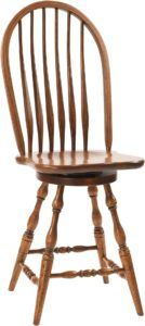 Bent Feather Bow Barstool