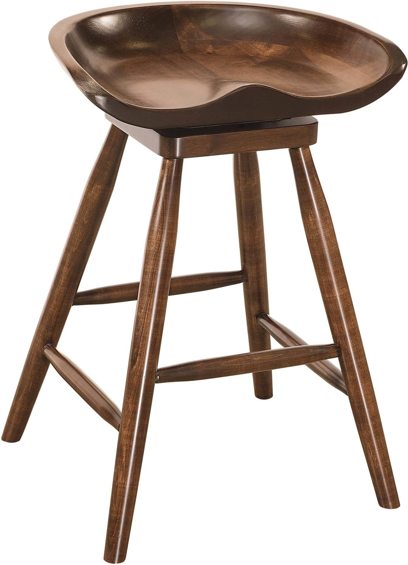 Winslow Wood Barstool Brandenberry Amish Furniture