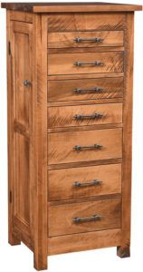 Alpine Rough Sawn Jewelry Armoire
