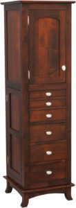 Revolving Shaker Mirrored Jewelry Armoire
