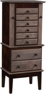 Split Deco Shaker Jewelry Armoire