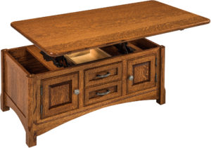 West Lake Enclosed Lift Top Coffee Table