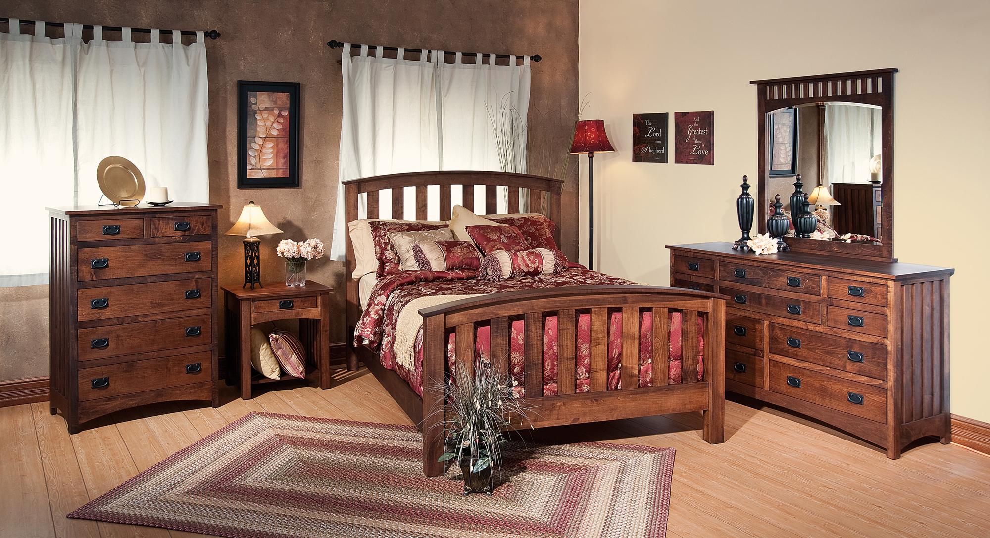 Amish Schwartz Mission Bedroom Set Brandenberry Amish
