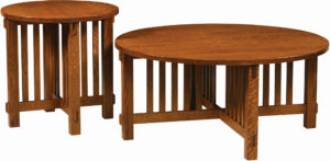 Rio Mission Round Occasional Table Set