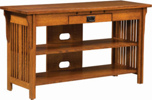 Straight Royal Mission Open TV Stand