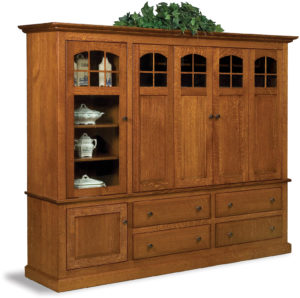 Contemporary Mission Two-Piece Entertainment Center