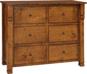 Brockport Six Drawer Mule Dresser