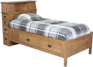 Amish Headboard Storage Bed