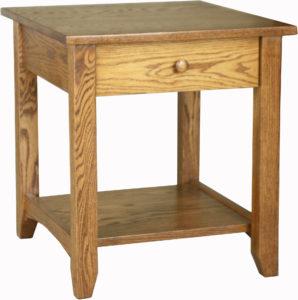 Shaker Open Oak End Table