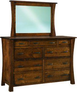 Vandalia Nine-Drawer Mule Dresser