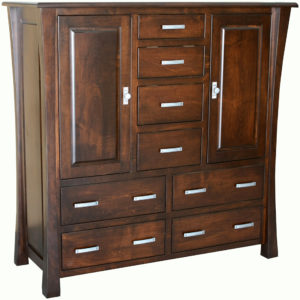 Vandalia Eight-Drawer His and Her Chest