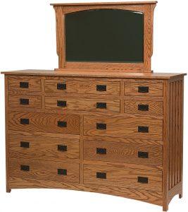Schwartz Mission Style Multi-Drawer Dresser