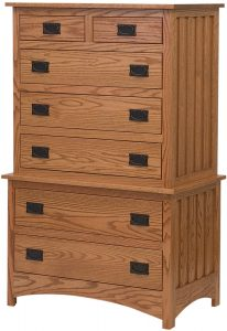 Schwartz Mission Style Multi-Drawer Chest on Chest